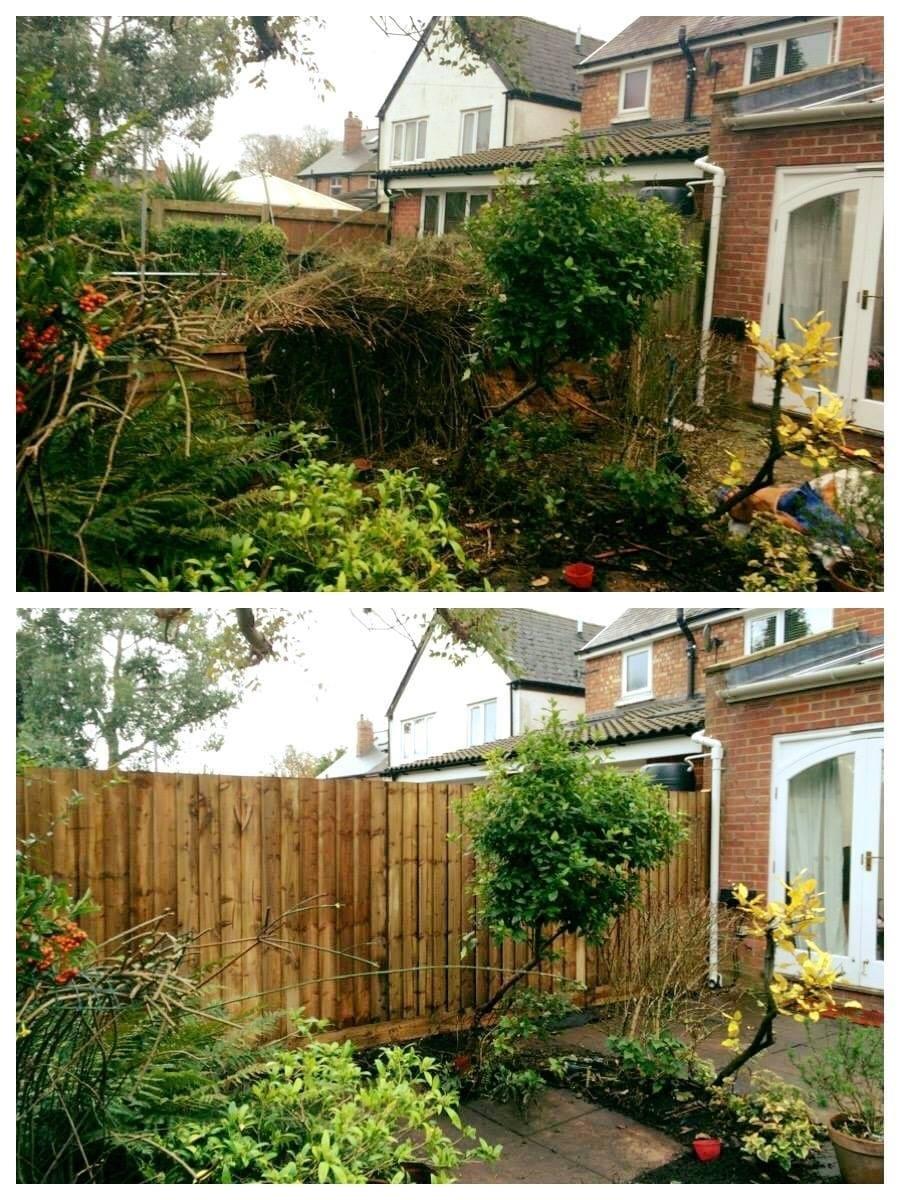 Garden tidy up & fence erection*