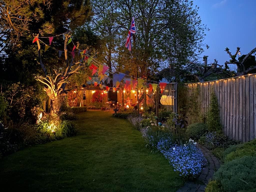 Home Garden By Night