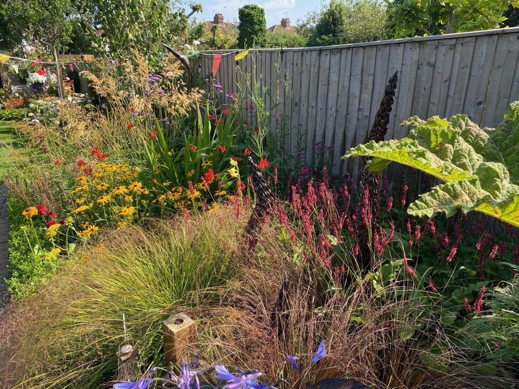 Home Garden Hot Border