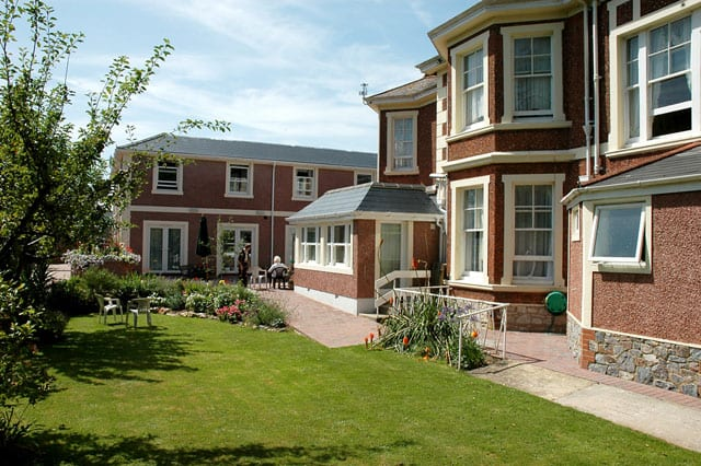 Care home gardens maintained by Johnson Gardening Services
