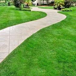 lawn treated with fertiliser